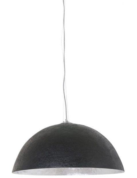 zwart met zilveren hanglamp