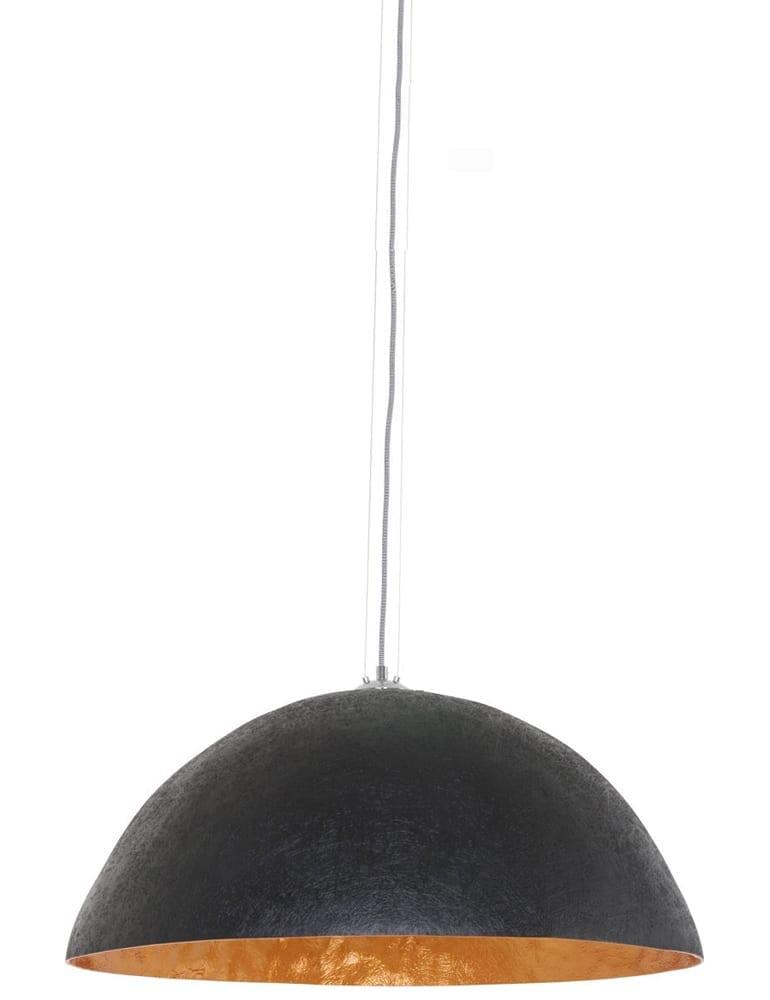 Uitzonderlijk Grote zwarte hanglamp gouden binnenkant - directlampen.nl &AS72