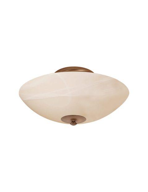 Klassieke plafondlamp halve bol Steinhauer Burgundy brons