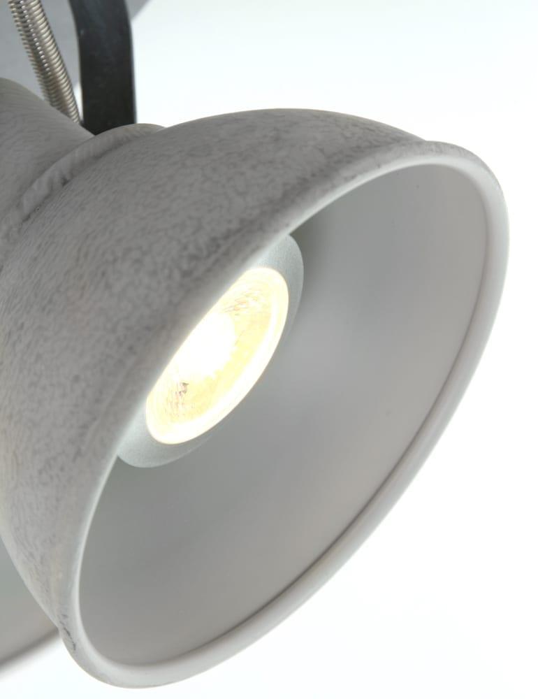 Vierspots plafondlamp freelight santo grijs for Freelight lampen