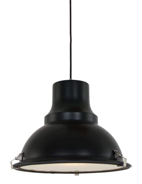 Stoere matte hanglamp Steinhauer Parade zwart