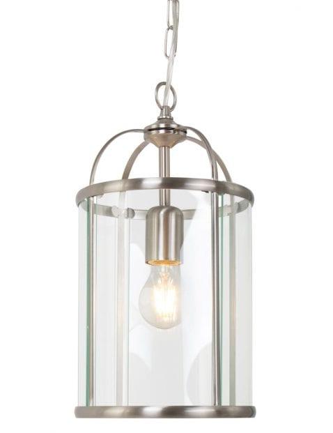 Stalen lantaarn met glas Steinhauer Pimpernel ø20 cm