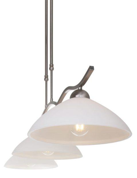 Stalen drielichts eettafellamp Steinhauer Capri