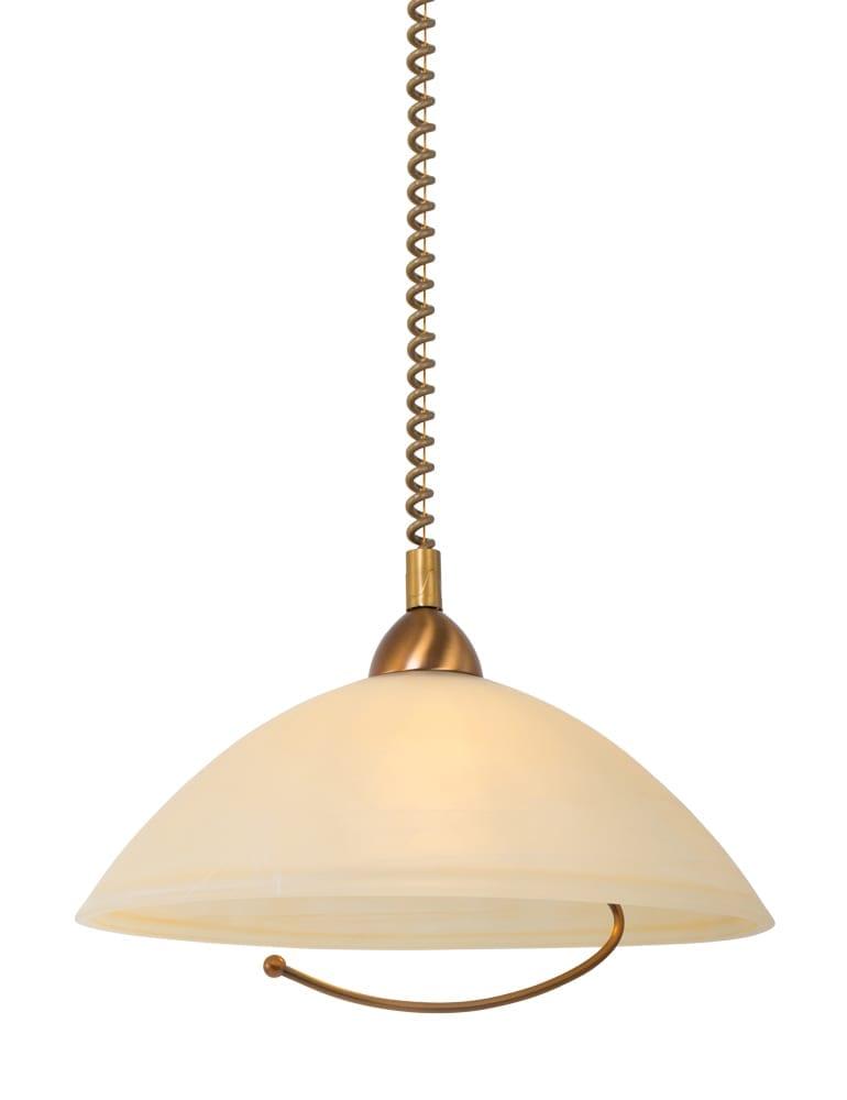 Klassieke hanglamp steinhauer burgundy brons met trekpendel for Klassieke hanglamp