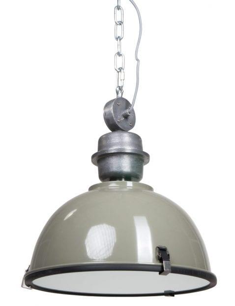 Industriële fabriekslamp Steinhauer Bikkel groen ø42 cm