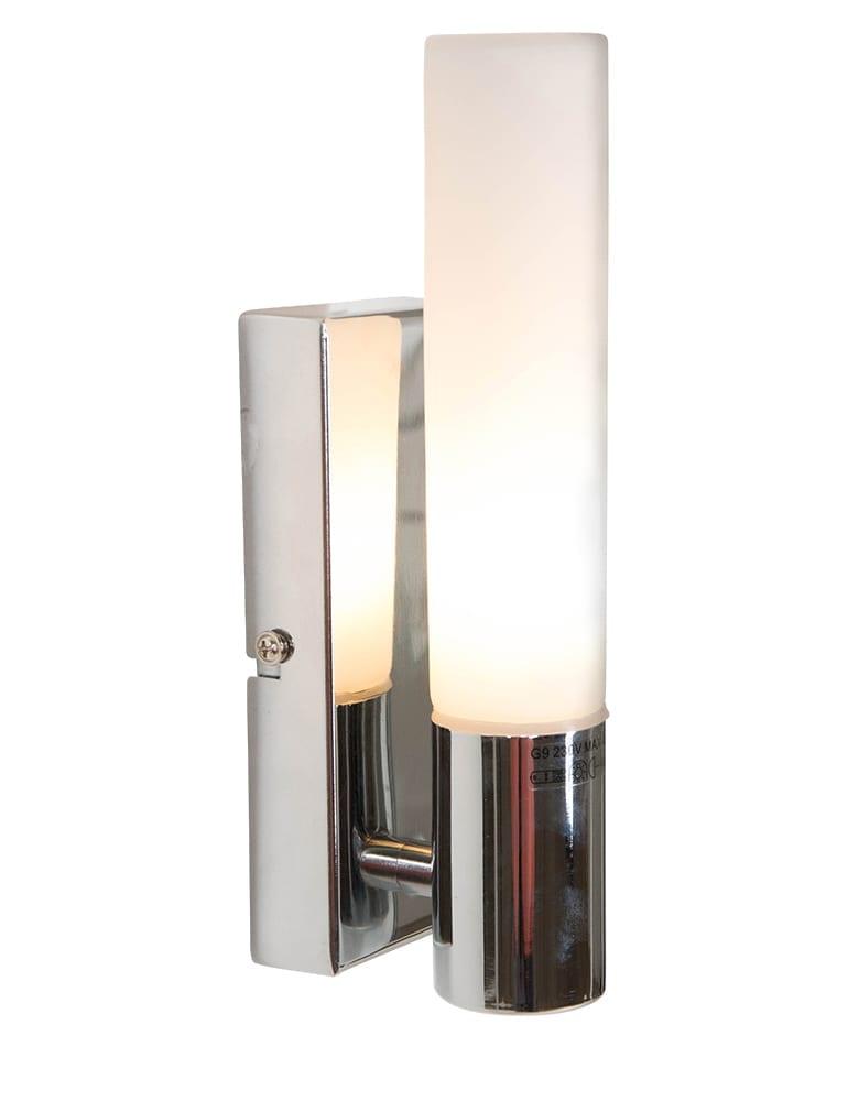 Strakke badkamer wandlamp lichtkoker