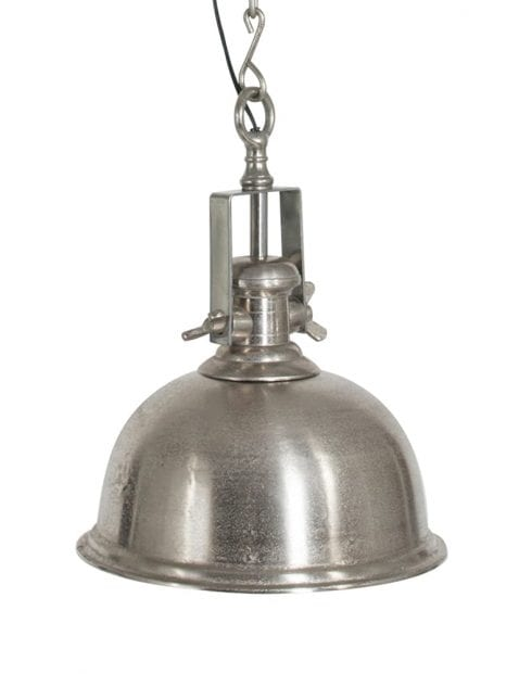 Staalkleurige hanglamp