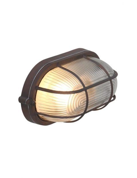 Bruine wandlamp