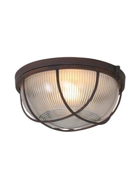 Raster plafondlamp bruin