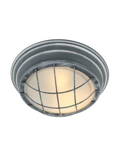 Grijze plafondlamp