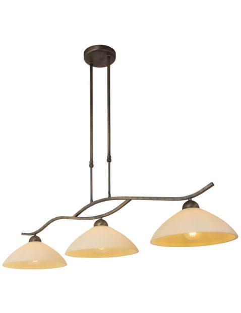 Drielichts klassieke hanglamp Steinhauer Capri brons