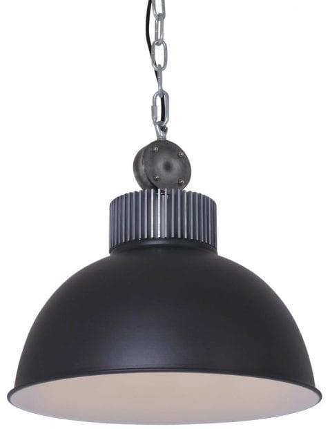 Industrielamp-zwart-stoer-opzetstuk-staal