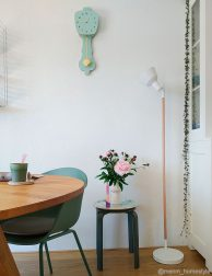 Scandinavische vloerlamp wit