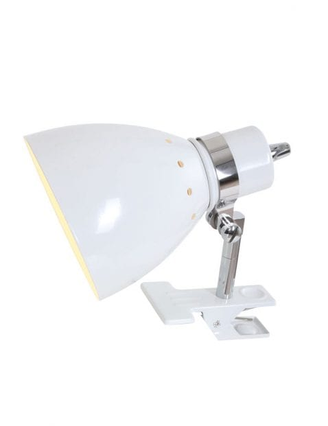Witte klemlamp