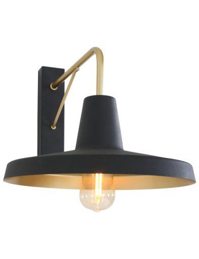 Zwart-met-gouden-details-wandlamp-muurlamp-design-modern