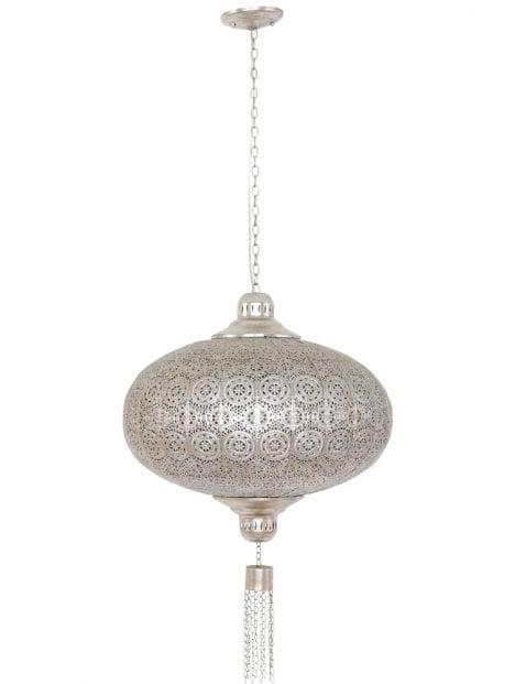 arabische-gaatjeslamp-eettafellamp-zilver