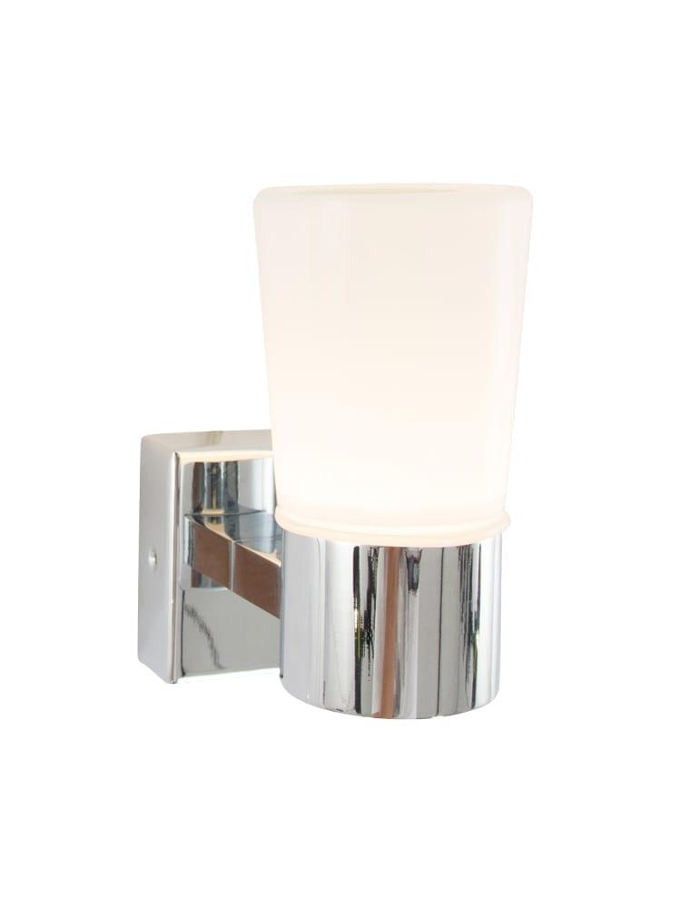 badkamer wandlamp ip-44 chroom en glas, directlampen.nl