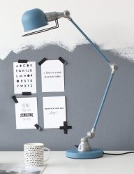 blauwe bureaulamp jikke