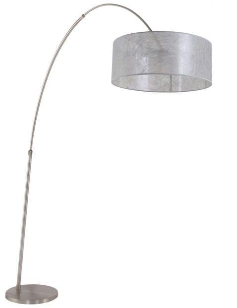 booglamp-vloer-zilverkleurig