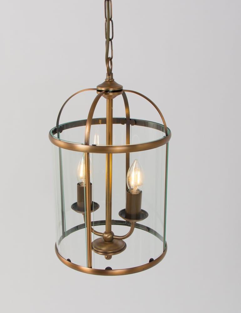 Grote bronzen lantaarn hanglamp met klassiek design for Klassieke hanglamp