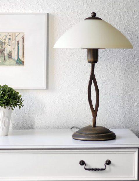 Klassieke schemer tafellamp Steinhauer Capri brons