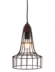 bruine draadlamp