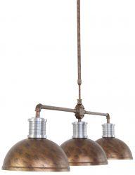 bruine-grote-drielichts-hanglamp-eettafel