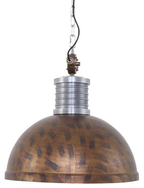Grote eettafellamp bruin industrieel Steinhauer Brooklyn
