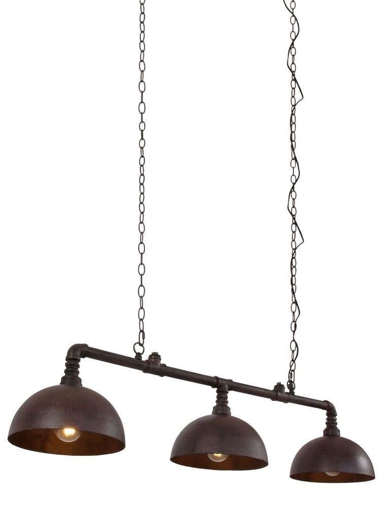 Bekend Industriële drielichts hanglamp Light &Living Falerite antiek IM09