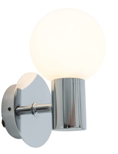 chromen-wandlamp-witte-bol