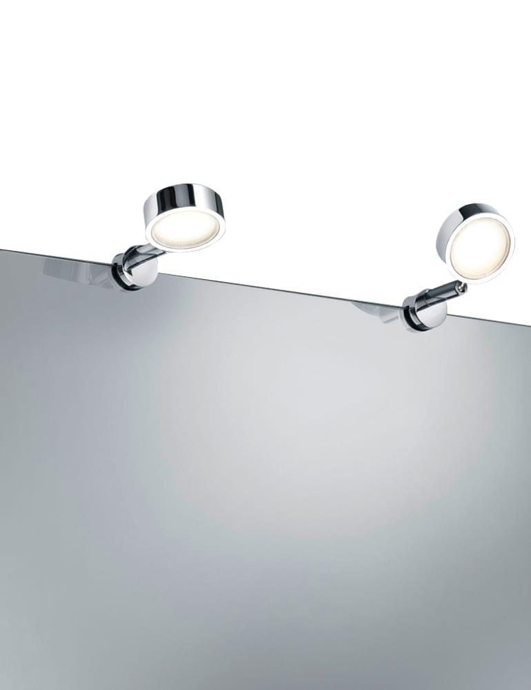 Modern klemlampje trio leuchten livello chroom for Spiegel 01 2018