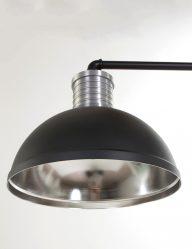 design-eettafellamp-tweelichts-zwart-industrieel