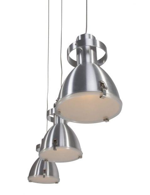 Drielichts eettafel hanglamp Steinhauer Tripolos staal