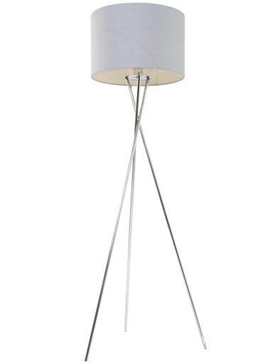 driepotige-vloerlamp-chromen-voet-met-grijze-kap