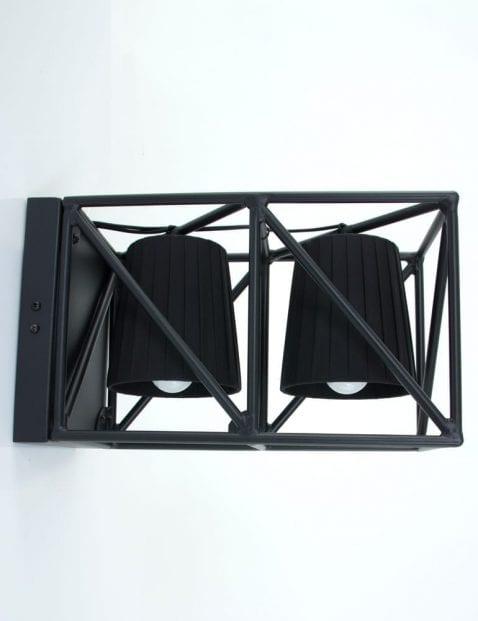 dubbele-wandlamp-kapjes-seletti-zwart