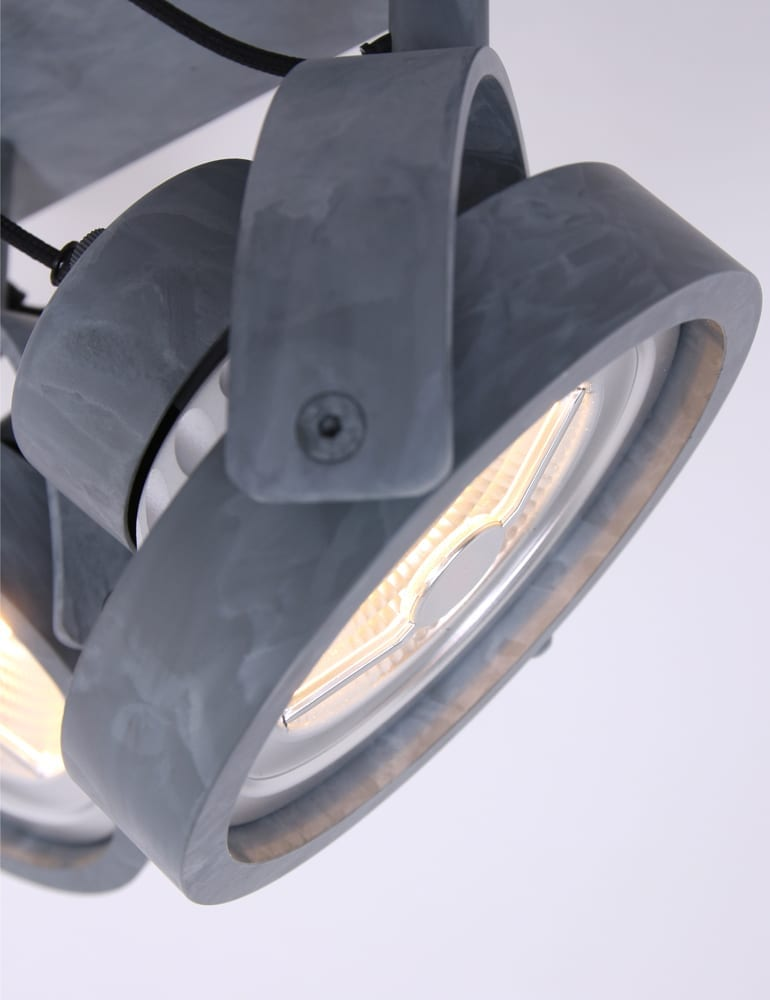 Industri le plafondspot lumidem lenox grijs for Industriele spots