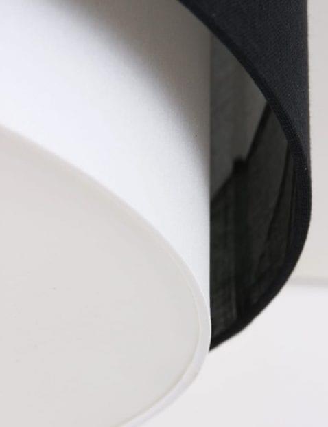 freelight-dubbele-plafondlamp-kappen-zwart-wit