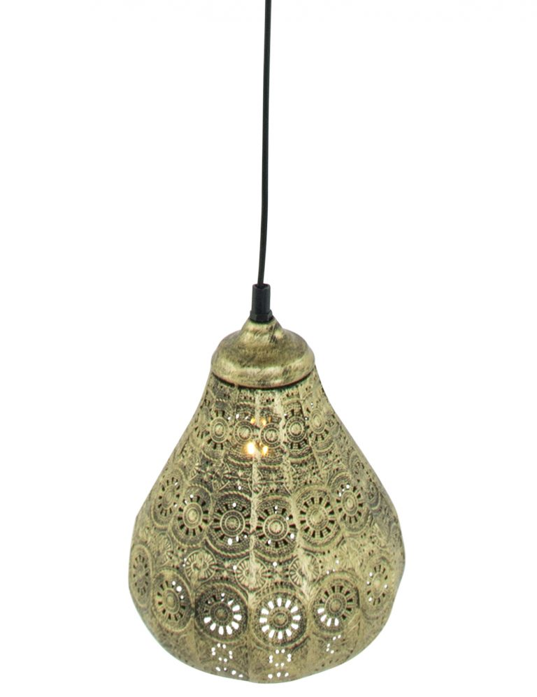 oosters hanglampje trio leuchten jasmin goud 19 cm. Black Bedroom Furniture Sets. Home Design Ideas