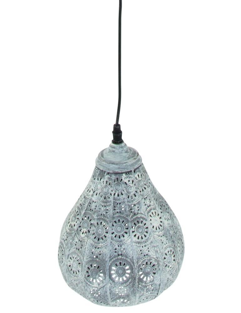 Afbeelding van Arabische gaatjeslamp Trio Leuchten Jasmin lichtgrijs ø19 cm