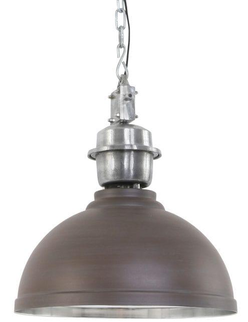 grote-bruine-eettafellamp-met-stalen-binnenzijde_2