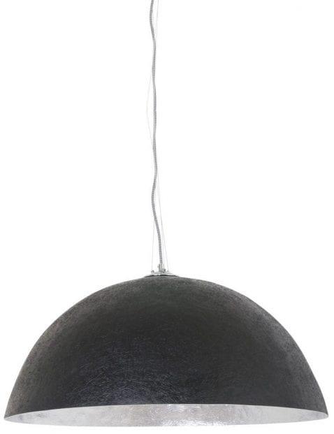 grote-stoere-eettafellamp-zilverkleurig-zwart