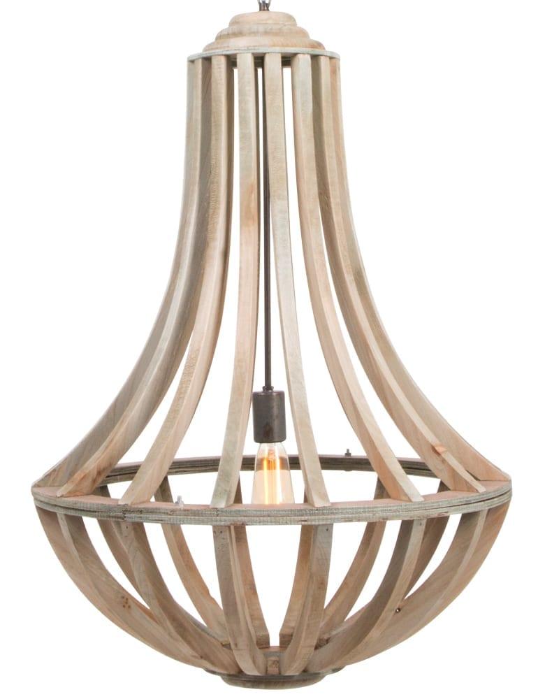 grote houten hanglamp landelijk
