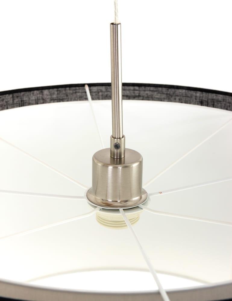 Kunstzinnige dubbele hanglamp freelight camelot zwart for Freelight lampen