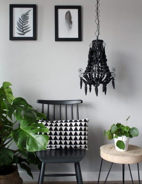 hanglamp zwart kroonluchter