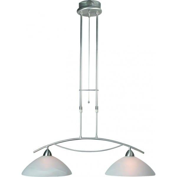 Klassieke hanglamp steinhauer burgundy staal 2 lichts for Klassieke hanglamp