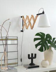 houten leeslamp wandlamp liv