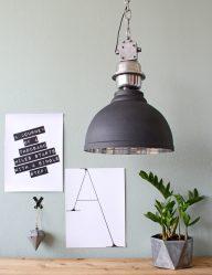 Industriële hanglamp antraciet