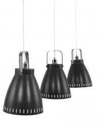 industriele-hanglamp-drielichts-zwart