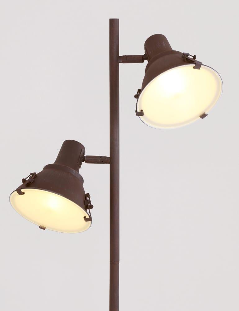 Duo vloerlamp steinhauer parade donkerbruin 163 cm for Industriele staande lamp