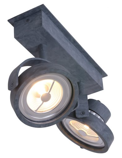 industriele-tweelichts-plafondspot-kantelbaar-betonlook-beton